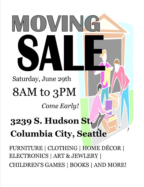 moving sale flyer template - Etame.mibawa.co